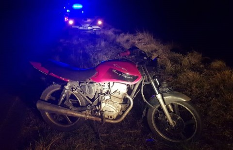 Se accidentó un motociclista en Ruta 85
