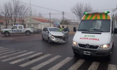 Accidente vehicular y estafa telefónica en Pellegrini